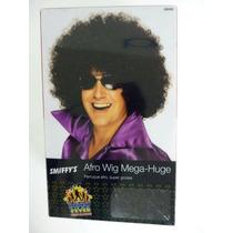 70s Traje - Enorme Negro Y Rizado Afro Peluca Mega- Disco De