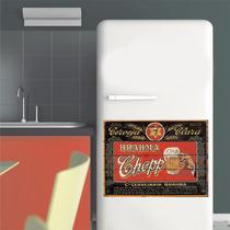 Adesivo Parede Cozinha Geladeira Chopp Cerveja Logo Retrô