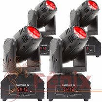 4 Mini Beam Moving Head Led 12w Cree Rgbw Dmx, Strobo, Prof.
