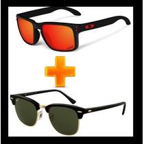 Kit Com 2 Oculos Masculino Holbrook + Clubmaster