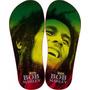 Chinelos Personalizados Bob Marley Bandas Reggae E Rock