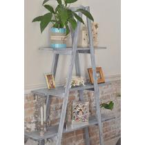 Paquete Con 3 Escaleras Decorativas Vintage 100% Madera
