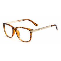 Armação Óculos De Grau - Metal 2173 Retrô Vintage Wayfarer