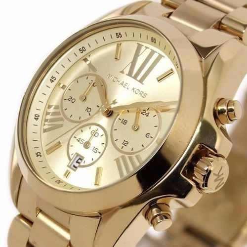 b7a0eae0652d5 Relógio Michael Kors Mk5605 Ouro Dourado Garantia Original - R  350 ...