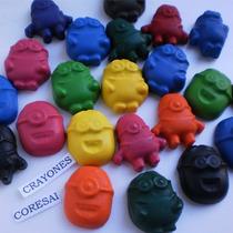 Crayones - Souvenirs - Minions - Cumpleaños - Pack X 24 Un.