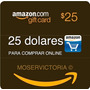 Amazon Gift Card 25 Dolares P/ Comprar Online Sin Tarjeta