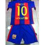 Nuevo 2017 Conjunto Camiseta Short Barcelona Messi Niños