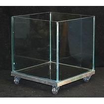 Vaso Quadrado De Vidro 30x30x30 Frete Grátis