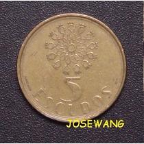 5 Escudos. Moneda Portuguesa Del Año 1988