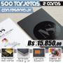 500 Tarjetas De Presentacion Con Reserva Uv Y Laminado Mate