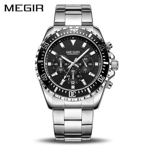 277307b3f29 Relógio Masculino Megir Luxo Esportivo