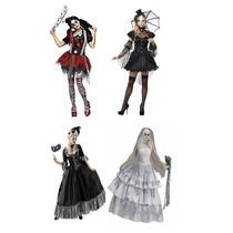 Disfraces Mujer Halloween Terror Horror Disfraz Miedo Adulto