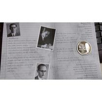 Moed Comemorativa - 100 Anos Carlos Drummond Andrade - Prata