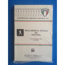 Libro - Reglamento Oficial De Softbol 1993