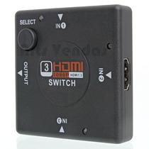 Adaptador Hdmi Switch Hub Com 3 Entradas 1 Saída Tv Ps3 Xbox