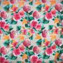 Flores Beige-Verde (Polilycra)