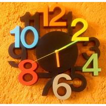 Reloj De Pared Original Y Colorido