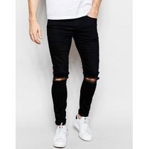 Calça Jeans Premium Rasgada Destoyed Super Skinny Offert
