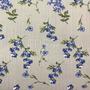 Flores Gris-Azul (Polilycra)