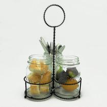 Mason Jars Porta Cubiertos Acero Tarros Vidrio Good And Good