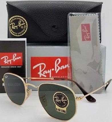 8cfc8c6aaa755 Óculos Ray Ban Rb3548 Hexagonal 51mm Pequeno 54mm Grande - R  178,90 em  Mercado Livre