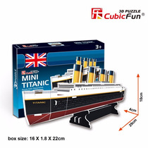 Puzzle 3d Quebra Cabeça Mini Titanic 30pç Cubic Fun