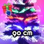 Árbol De Navidad 90cm Luminoso Por Fibra Óptica 220v