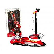 Guitarra Electrica Con Microfono Y Base De Mickey
