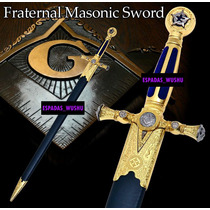 Espadin Masonico Ceremonial Con Funda Masoneria Sb4915bl-b