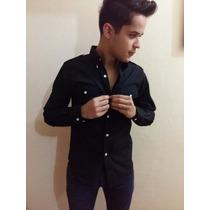 Camisa Casual Masculina Blusa Social Slim Fit