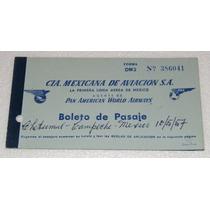 Antiguo Boleto Para Pasajero De Mexicana De Aviacion 1957