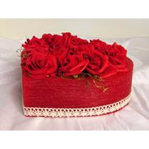 Arranjo De Flores Artificiais, Coração Com Flores, Rosas Eva