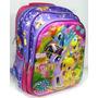 Mochila Escolar Infantil 3d My Little Poney Costas Tam M