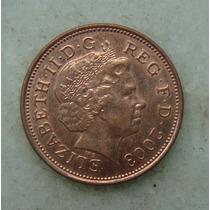 1524 Inglaterra Elizabeth 2003 Two Pence 26mm - Bronze Aço