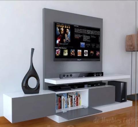 Centro De Entretenimiento Mueble Tv Moderno Bs 72000000 en