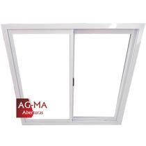 Aberturas Ventana Aluminio Bco Vidrio Entero 1,20x1,10 Agma