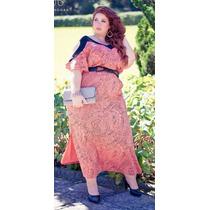 Vestido Longo Elegance Plus Size Festa Casamento Formatura