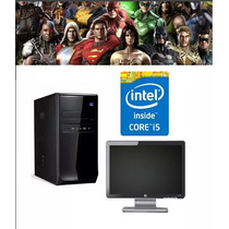 Pc Gamer Cpu Completa Intel I5 4gb Monitor 19 Led Brinde