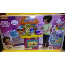 Cocinita Infantil Dora Exploradora Aventura Sonido 21 Piezas
