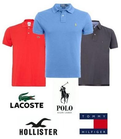 Kit 5 Camisas Polo Marcas E Cores Variadas Frete Gratis - R  120,90 em  Mercado Livre 85d6254b87