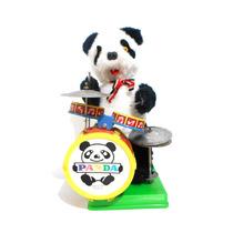 Juguete Antiguo De Pilas Taiwan Oso Panda Baterista
