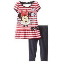 Conjunto De Niña De Dos Piezas Marca Disney. Minnie Mouse T4
