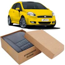 Kit Capas De Banco 100% Em Couro Original Padrão Fiat Punto