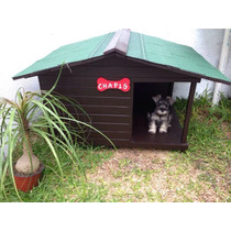 Casa Para Perro Con Terraza Lateral No. 2 De Lujo
