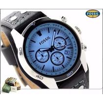 Reloj Fossil Hombre Ch2564 - Vidrio Azul Plateado