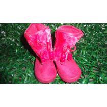 Botas Forradas Para Niña O Bebe Tela Zapato Gamuza Talla 22