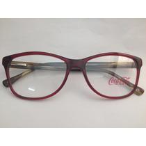 Armação Para Óculos Coca Cola Feminina Cc2 3990