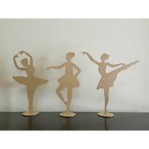 Kit Bailarina Mdf 20 Peças Decoração Festas E Lembrancinhas