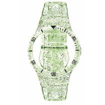 Pulseira Champion Verde Transparente Glitter Pr30619b