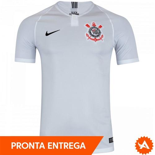 9673e19ee6c89 Camisa Nike Corinthians Home Branca 2018 Original - Promoção - R  129